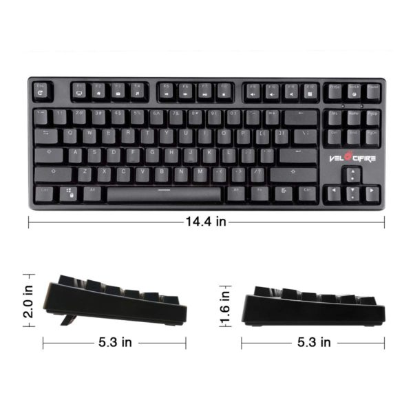 Velocifire TKL02WS Wireless Mechanical Keyboard
