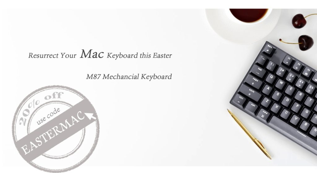 Mac Easter M87 home banner