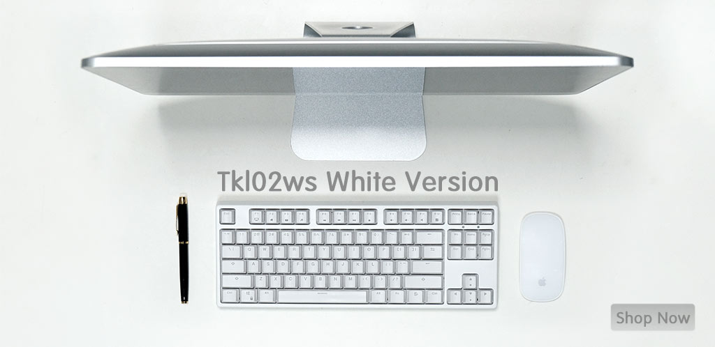 velocifire TKL02WS white